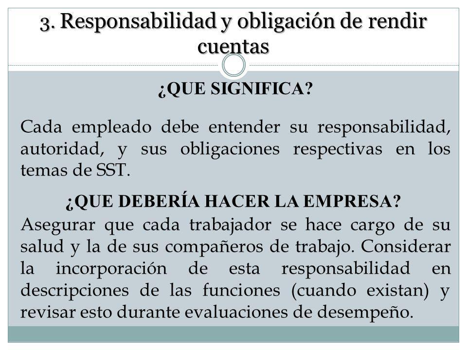 3. Responsabilidad y obligación de rendir cuentas