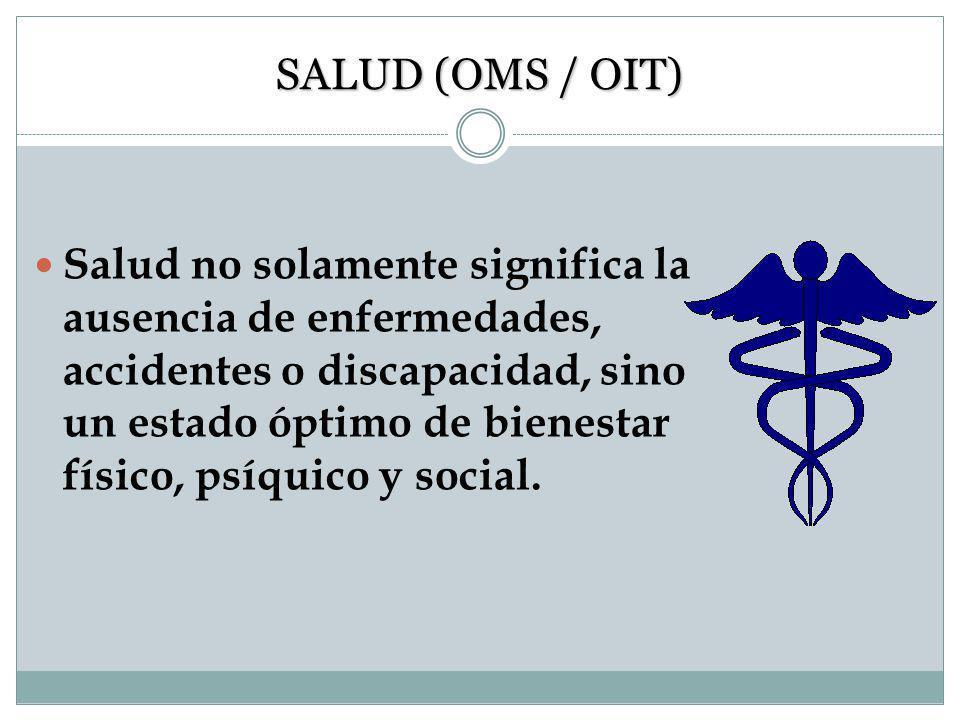 SALUD (OMS / OIT)
