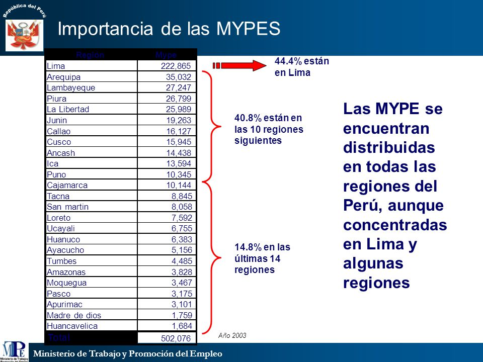 Importancia de las MYPES