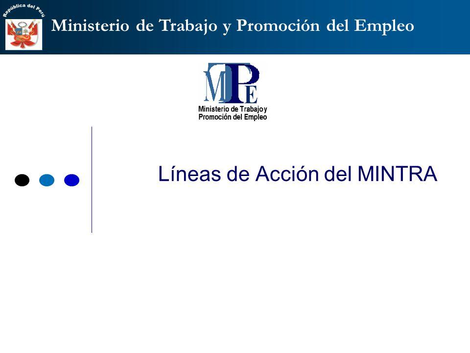 Líneas de Acción del MINTRA