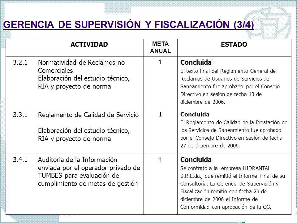 GERENCIA DE SUPERVISIÓN Y FISCALIZACIÓN (3/4)