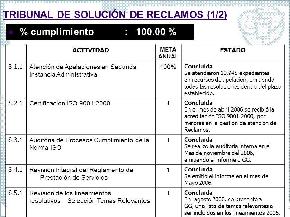 TRIBUNAL DE SOLUCIÓN DE RECLAMOS (1/2)