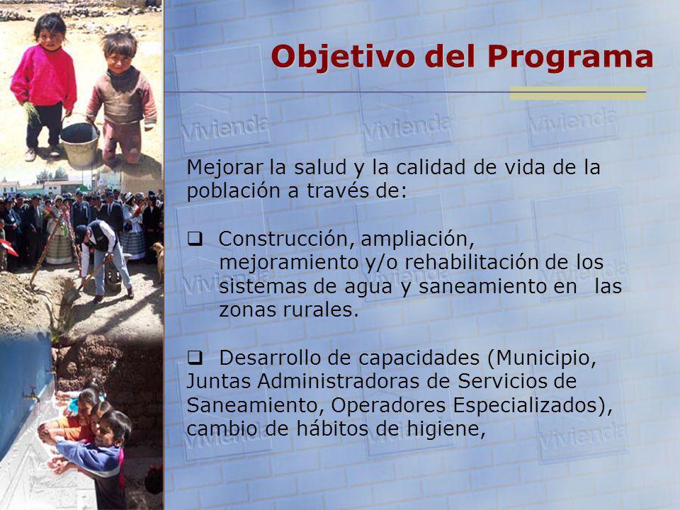 Objetivo del Programa Mejorar la salud y la calidad de vida de la población a través de:
