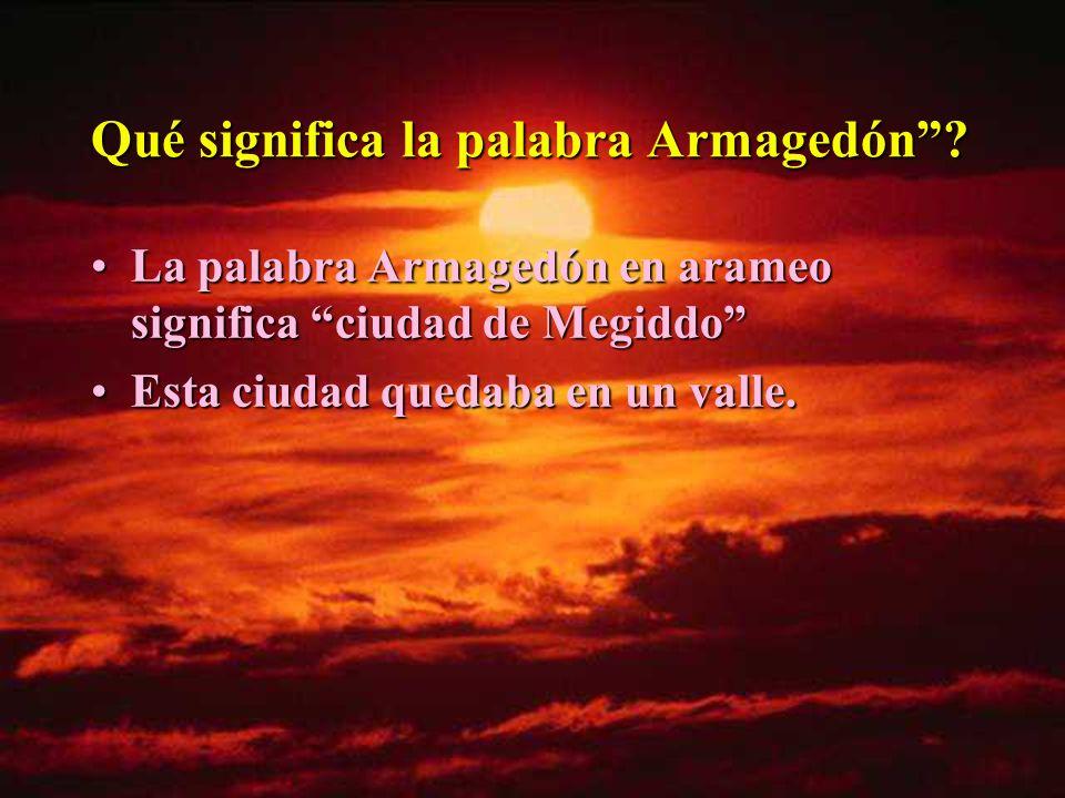 Qué significa la palabra Armagedón