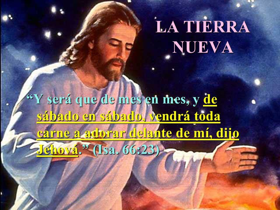 LA TIERRA NUEVA Y será que de mes en mes, y de sábado en sábado, vendrá toda carne a adorar delante de mí, dijo Jehová. (Isa.