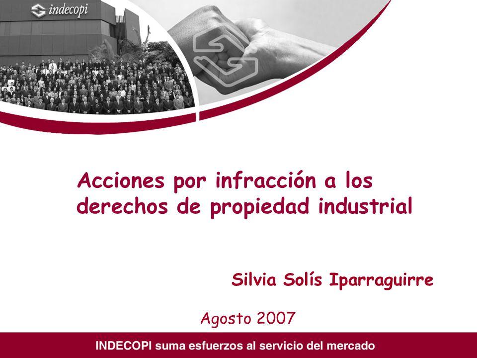 Acciones por infracción a los derechos de propiedad industrial