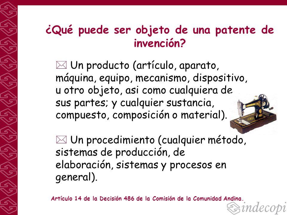 ¿Qué puede ser objeto de una patente de invención