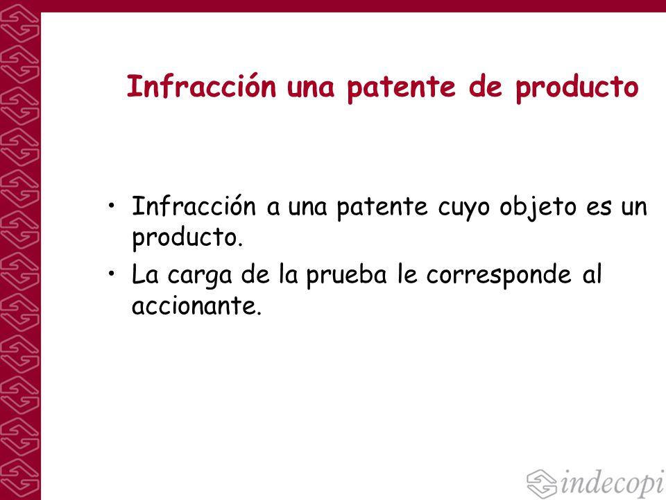 Infracción una patente de producto