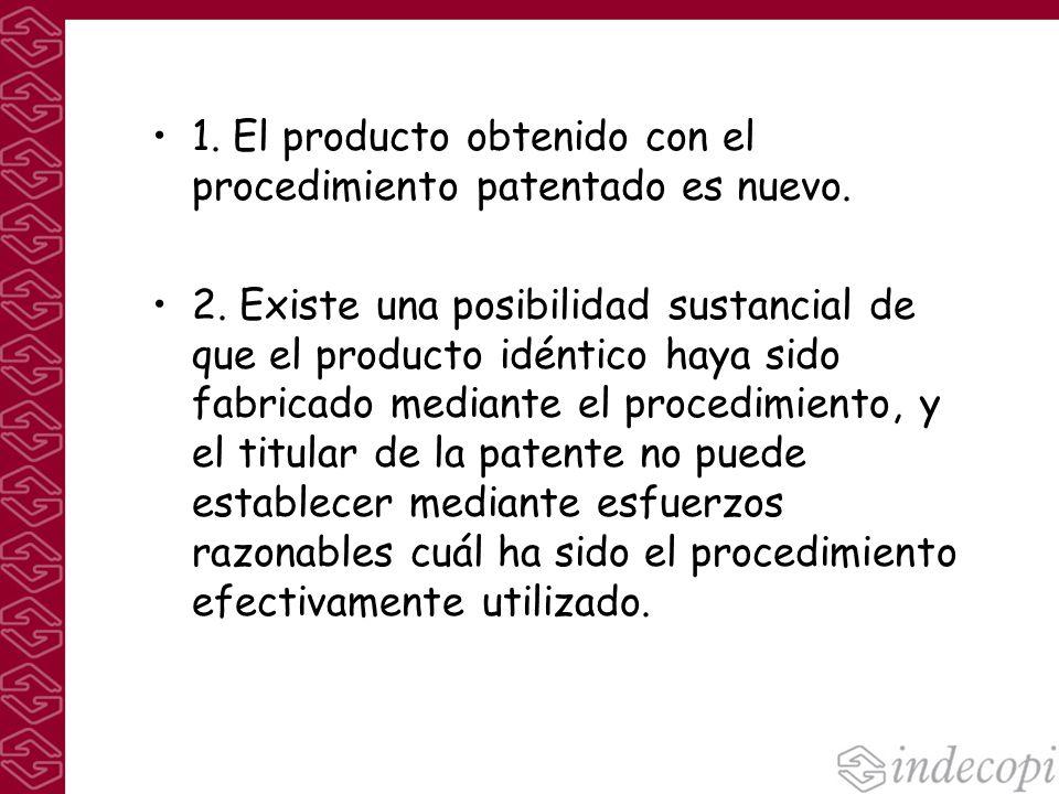 1. El producto obtenido con el procedimiento patentado es nuevo.