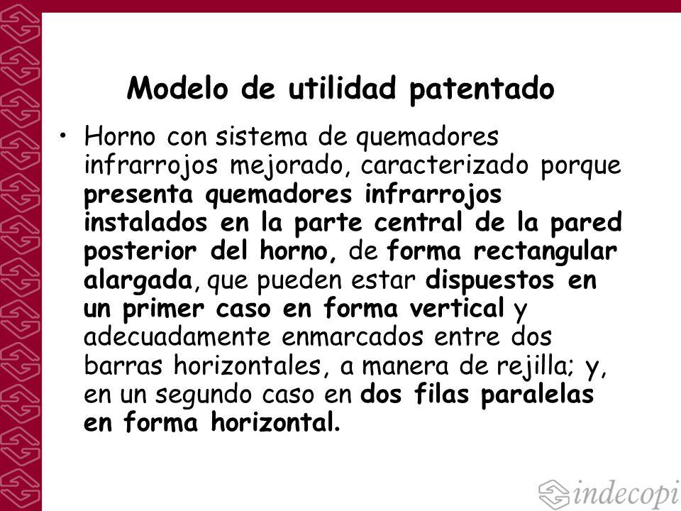 Modelo de utilidad patentado