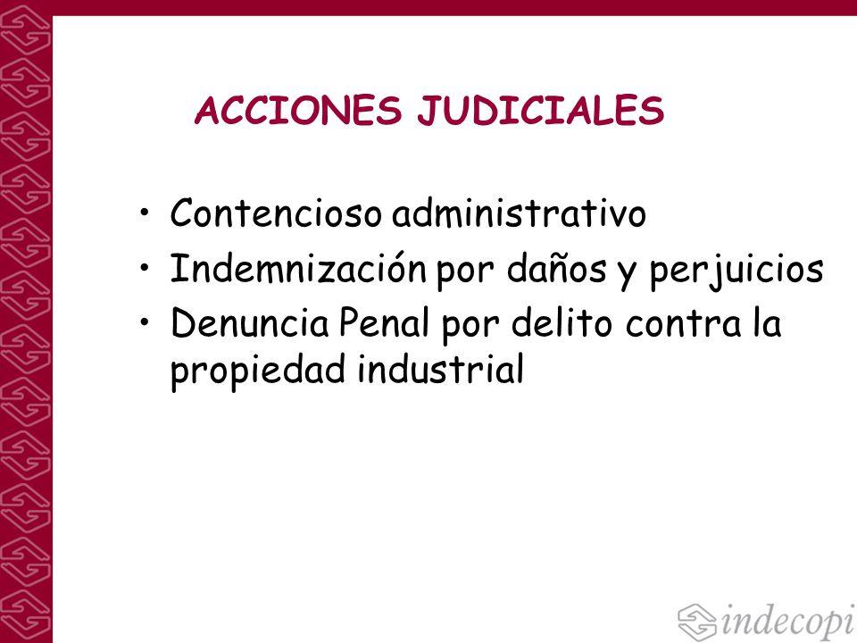 ACCIONES JUDICIALES Contencioso administrativo. Indemnización por daños y perjuicios.