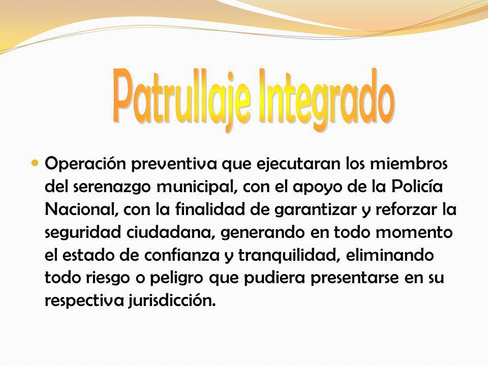 Patrullaje Integrado