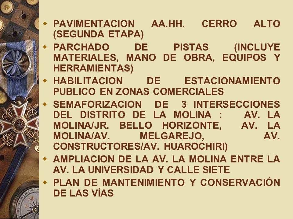PAVIMENTACION AA.HH. CERRO ALTO (SEGUNDA ETAPA)