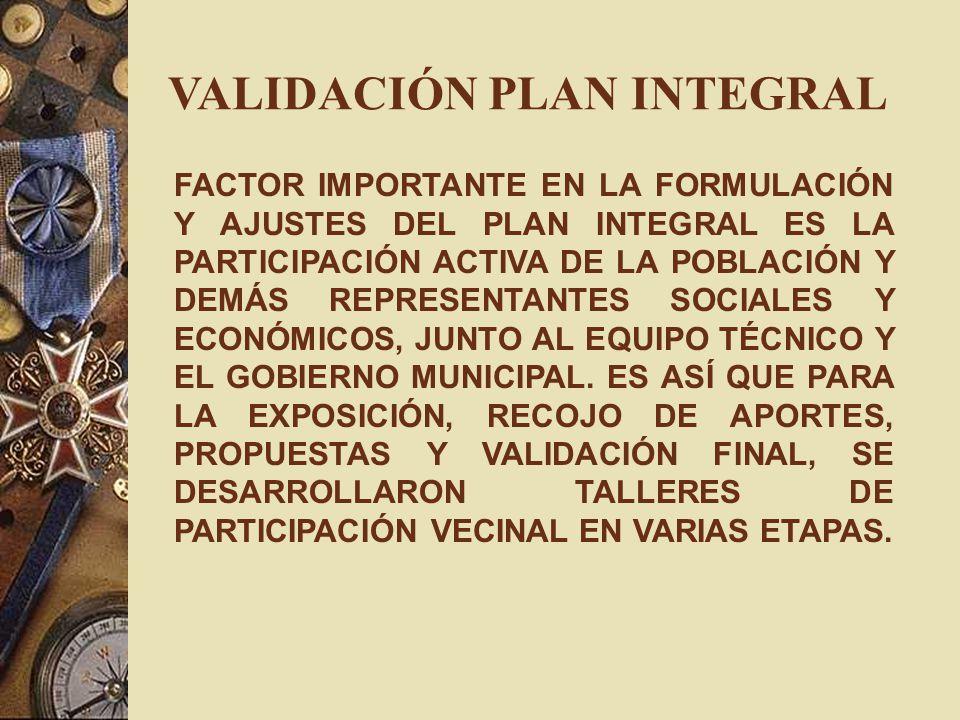 VALIDACIÓN PLAN INTEGRAL