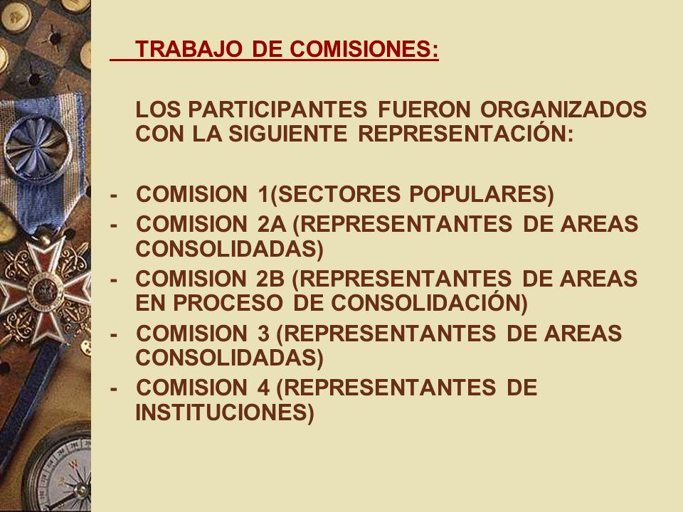 TRABAJO DE COMISIONES: