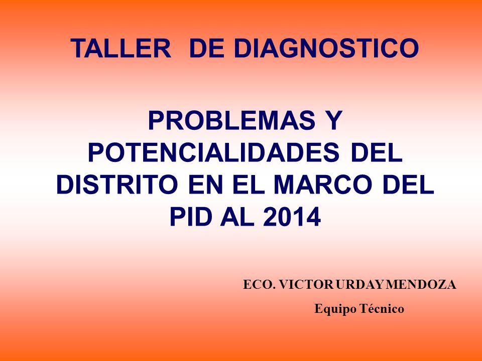 PROBLEMAS Y POTENCIALIDADES DEL DISTRITO EN EL MARCO DEL PID AL 2014