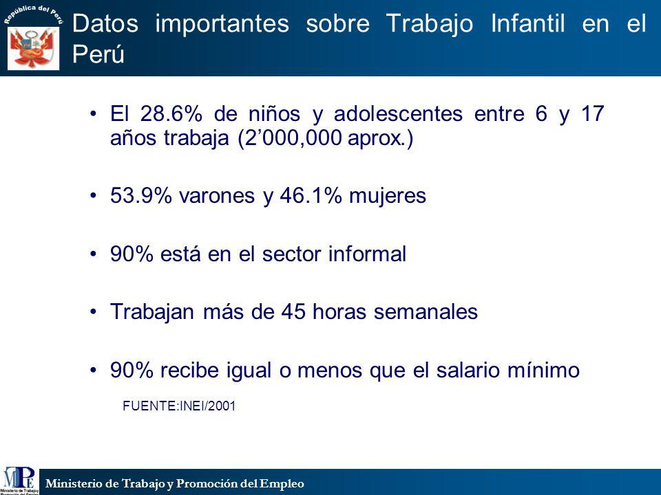 Datos importantes sobre Trabajo Infantil en el Perú