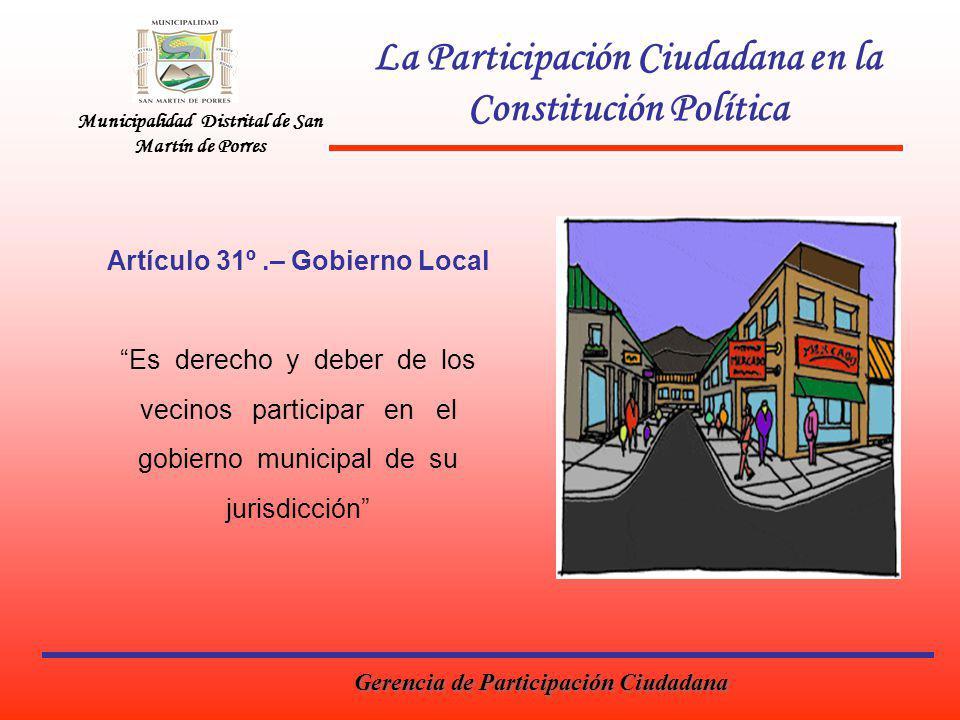 La Participación Ciudadana en la Constitución Política