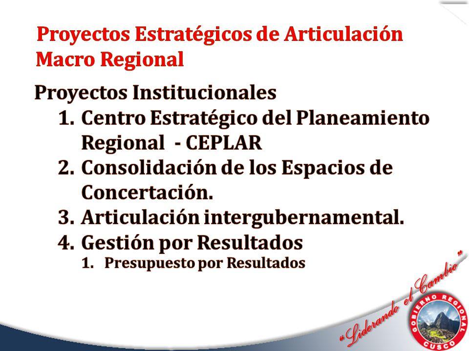 Proyectos Estratégicos de Articulación Macro Regional