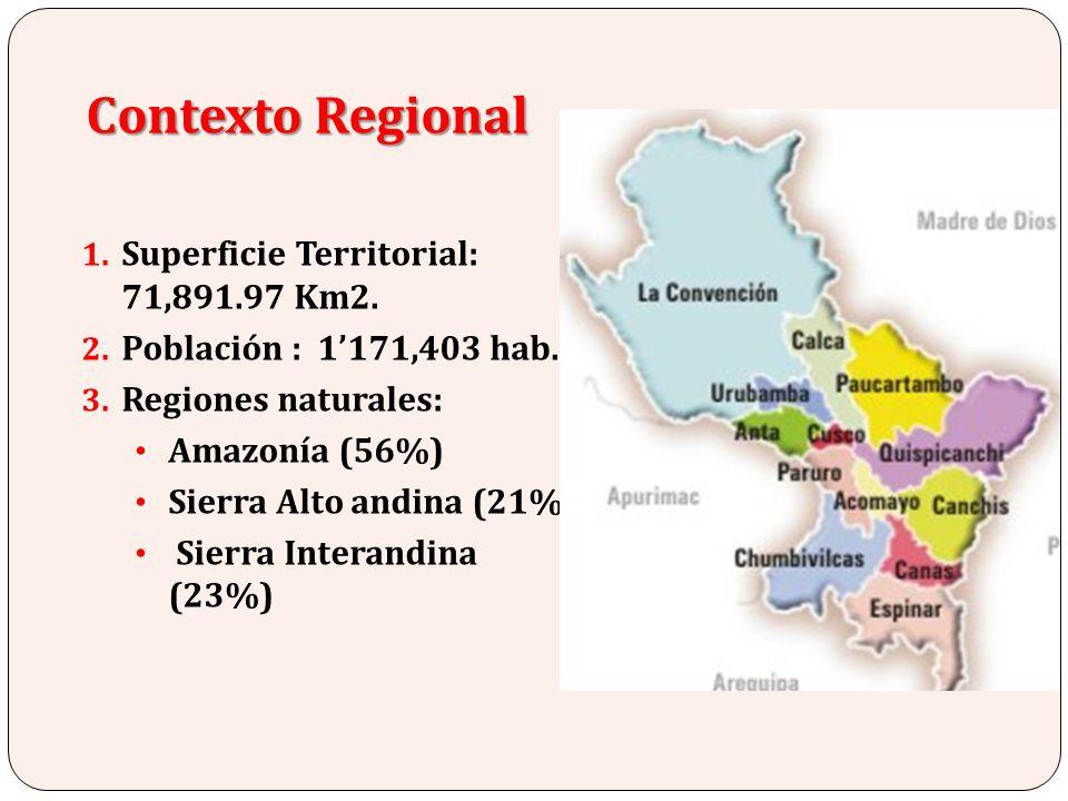 Contexto Regional Superficie Territorial: 71,891.97 Km2.