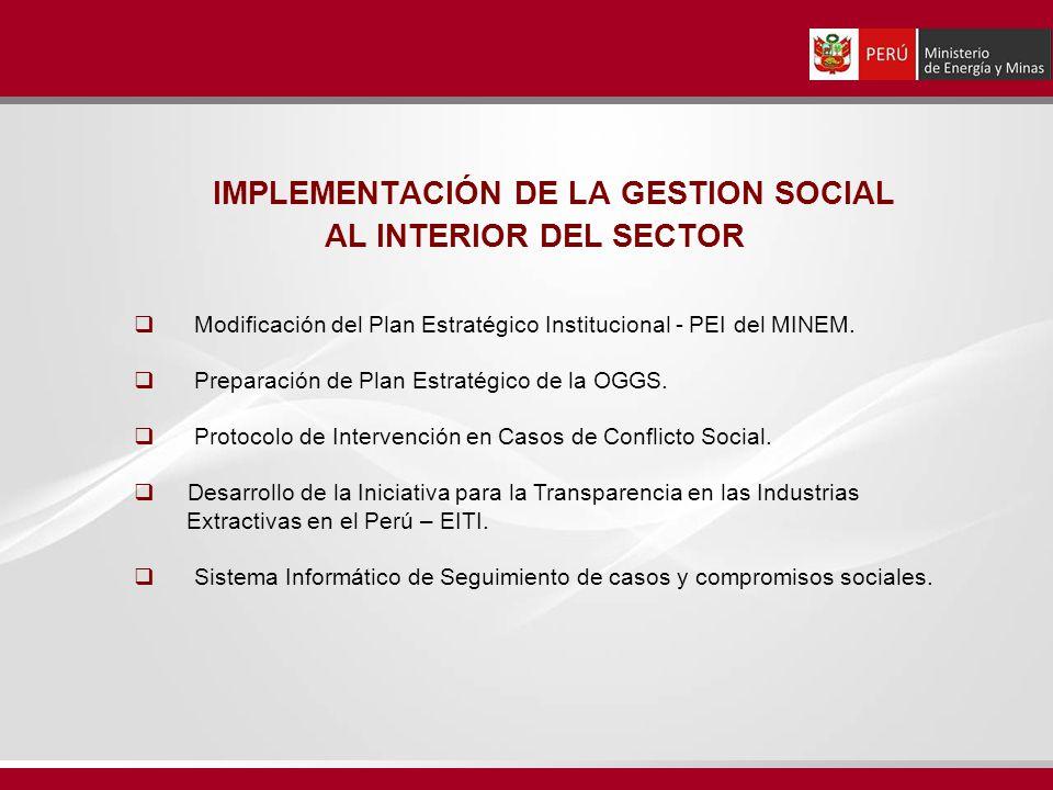 IMPLEMENTACIÓN DE LA GESTION SOCIAL