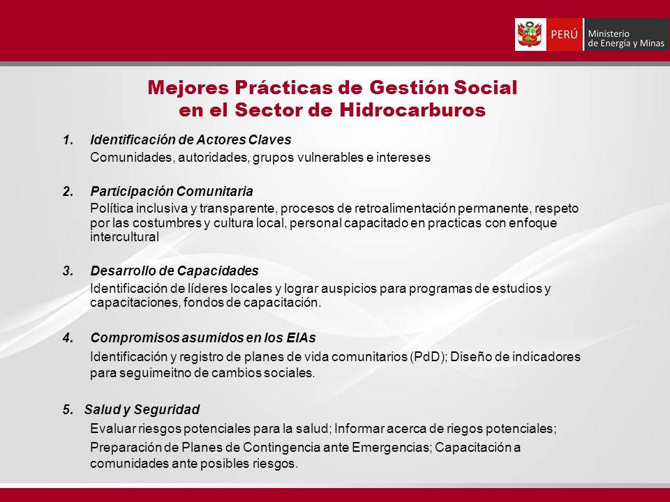 Mejores Prácticas de Gestión Social en el Sector de Hidrocarburos