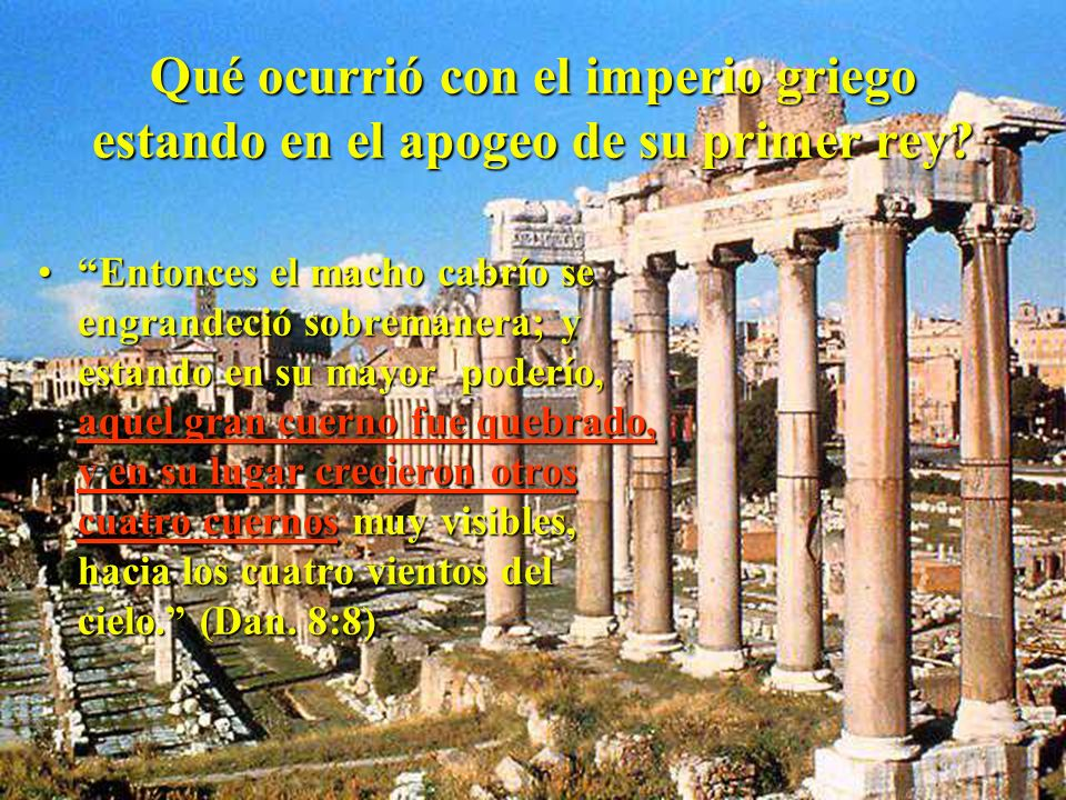 Qué ocurrió con el imperio griego estando en el apogeo de su primer rey