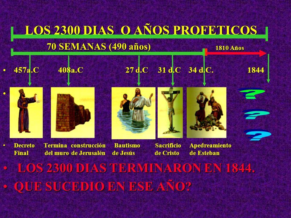 LOS 2300 DIAS O AÑOS PROFETICOS 1810 Años