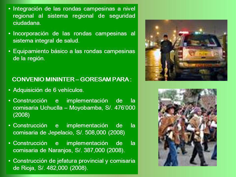 CONVENIO MININTER – GORESAM PARA :