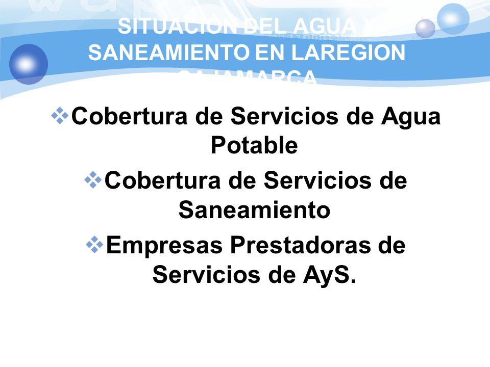 SITUACIÒN DEL AGUA Y SANEAMIENTO EN LAREGION CAJAMARCA