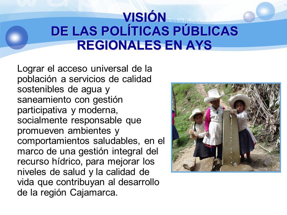 DE LAS POLÍTICAS PÚBLICAS REGIONALES EN AYS