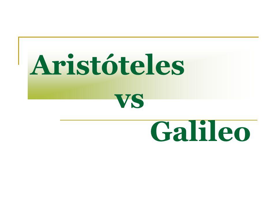 Aristóteles vs Galileo
