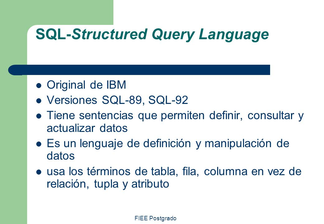SQL-Structured Query Language