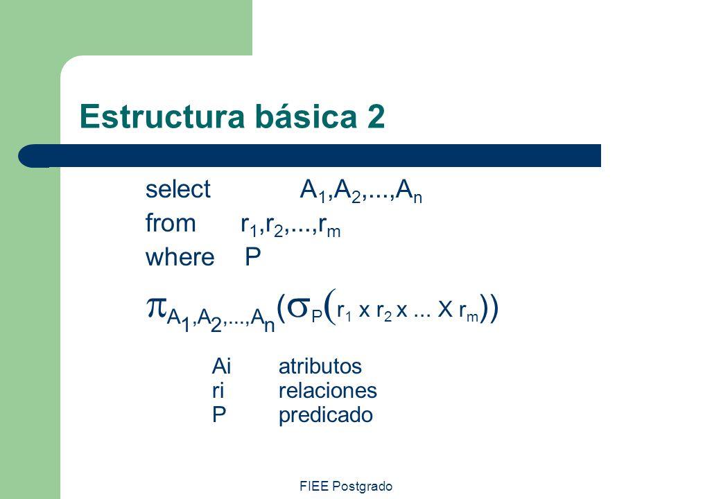 pA1,A2,...,An(sP(r1 x r2 x ... X rm)) Estructura básica 2