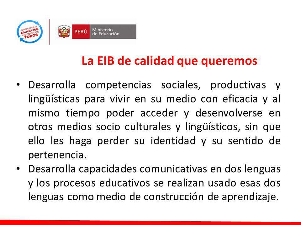 La EIB de calidad que queremos