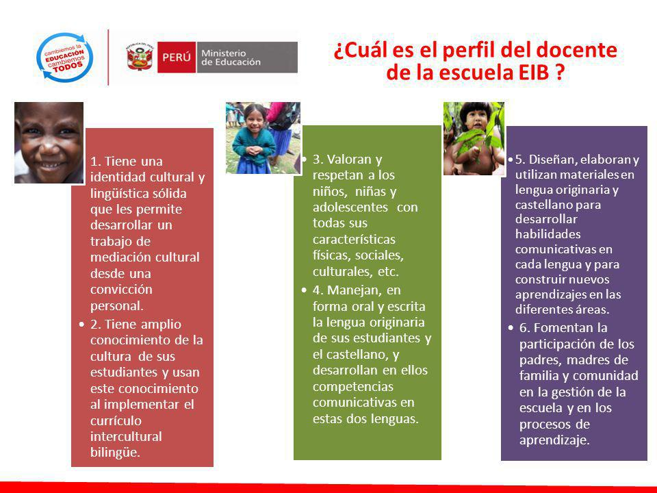 ¿Cuál es el perfil del docente de la escuela EIB