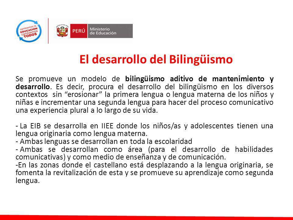El desarrollo del Bilingüismo