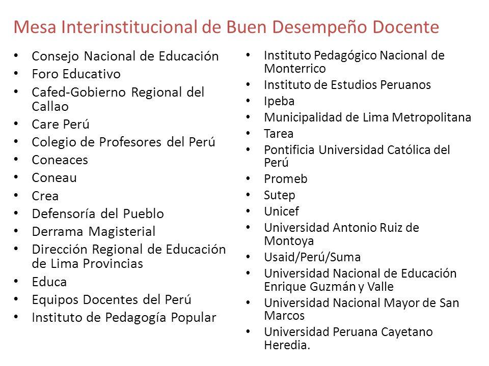 Mesa Interinstitucional de Buen Desempeño Docente