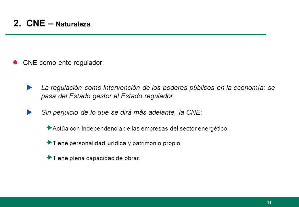 2. CNE – Naturaleza CNE como ente regulador:
