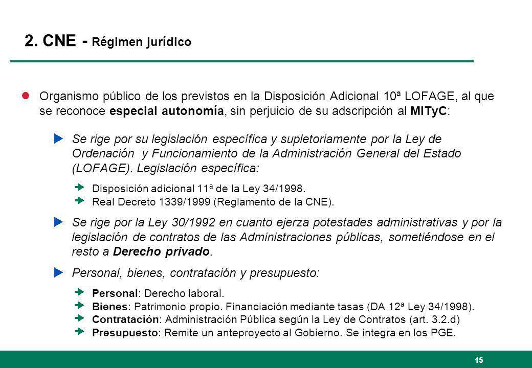 2. CNE - Régimen jurídico