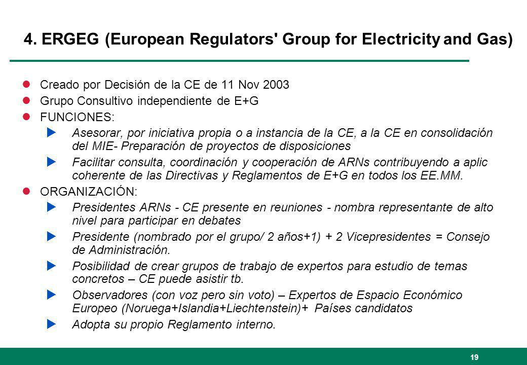 4. ERGEG (European Regulators Group for Electricity and Gas)
