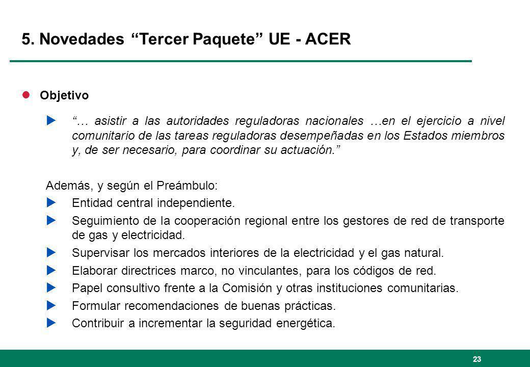 5. Novedades Tercer Paquete UE - ACER