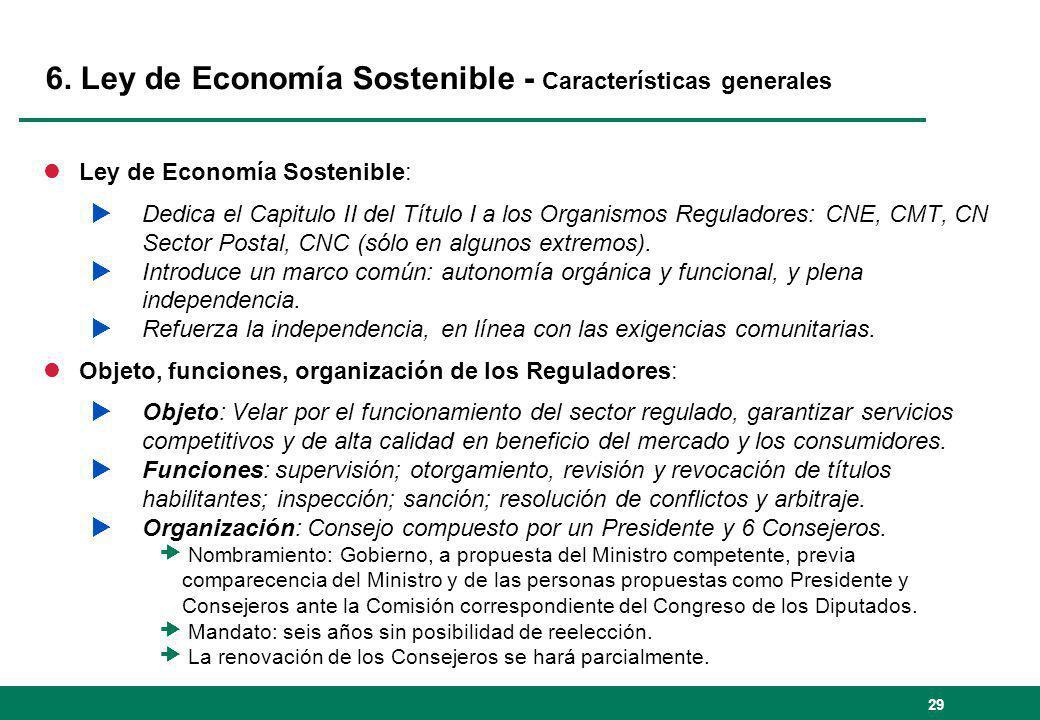 6. Ley de Economía Sostenible - Características generales