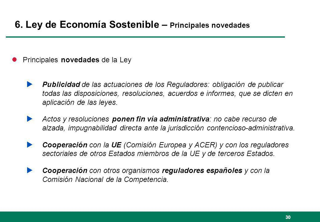 6. Ley de Economía Sostenible – Principales novedades