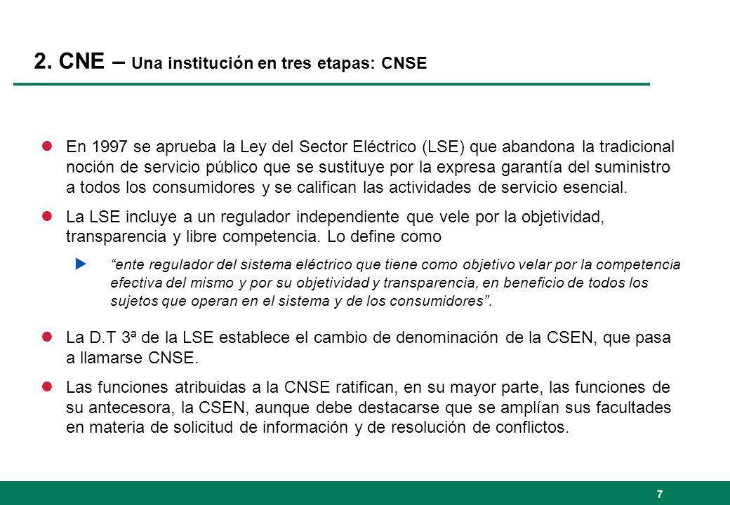 2. CNE – Una institución en tres etapas: CNSE
