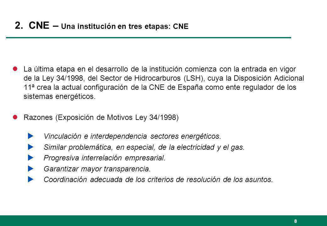 2. CNE – Una institución en tres etapas: CNE