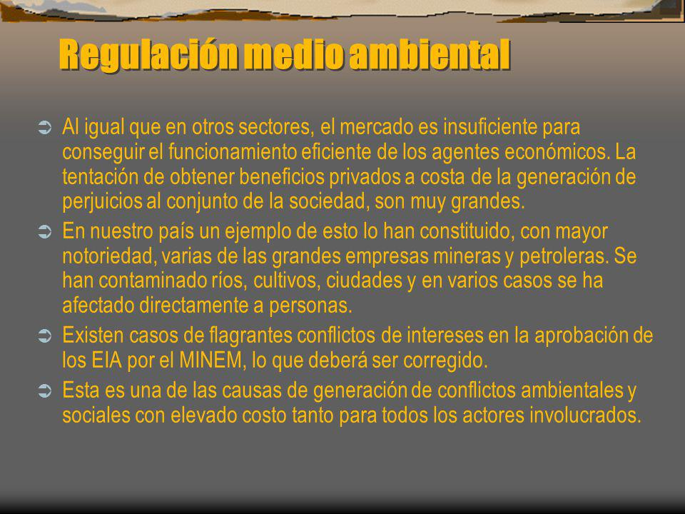 Regulación medio ambiental
