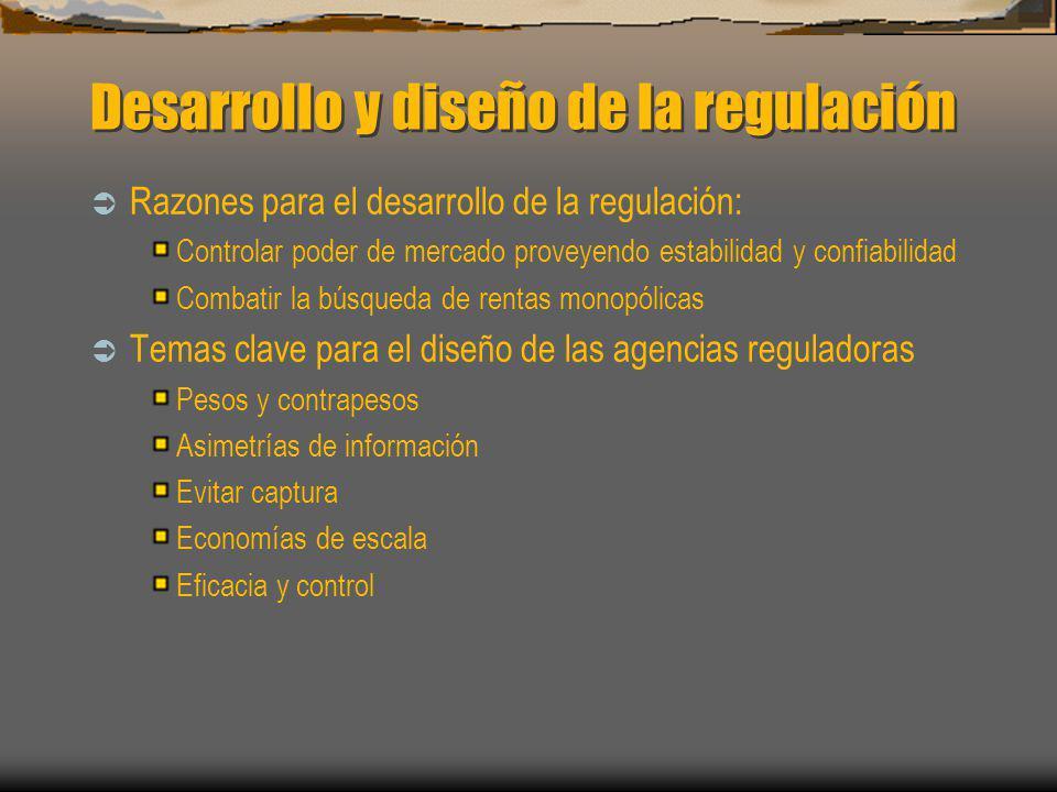 Desarrollo y diseño de la regulación