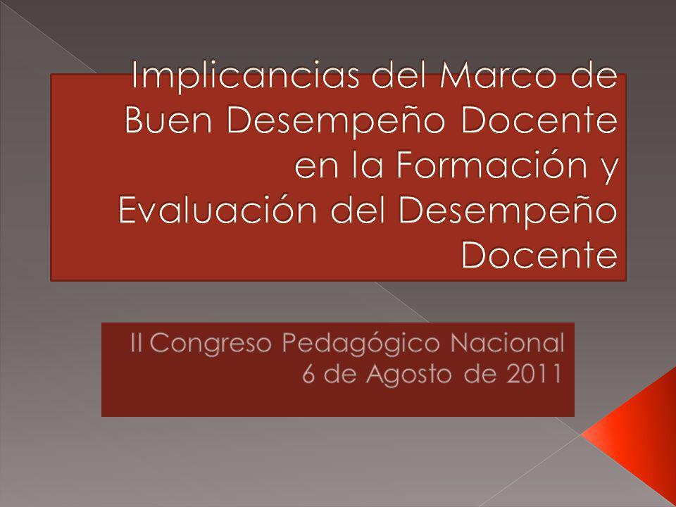 II Congreso Pedagógico Nacional 6 de Agosto de 2011