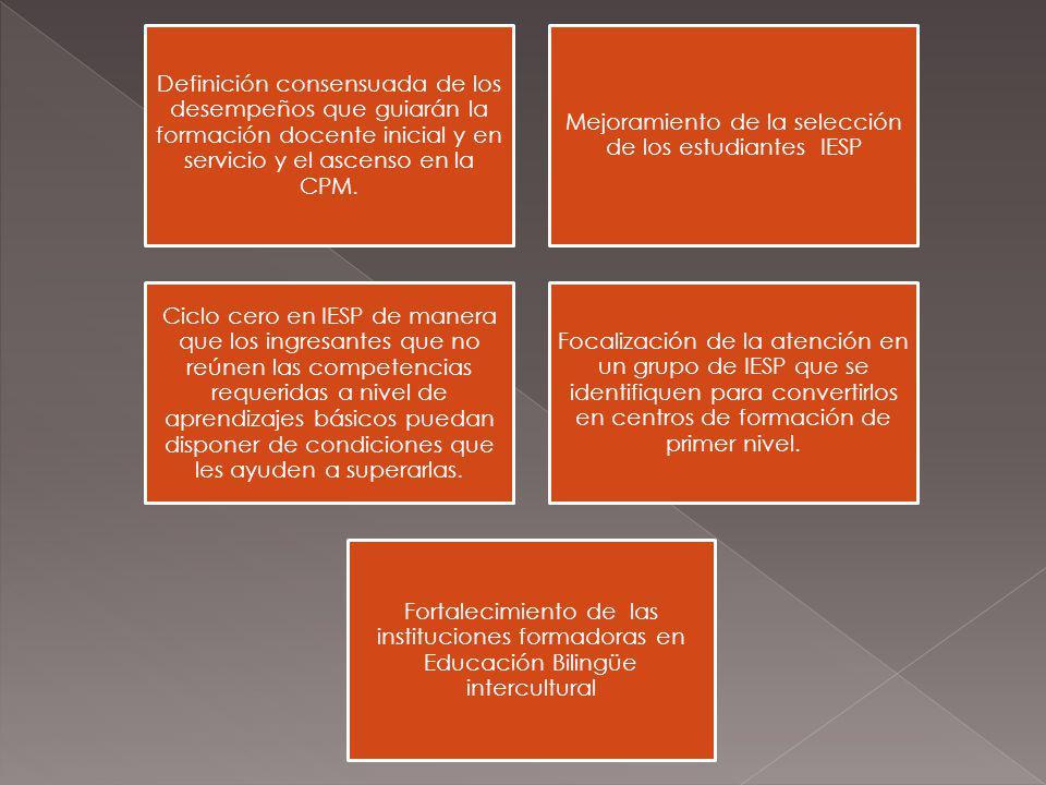 Mejoramiento de la selección de los estudiantes IESP